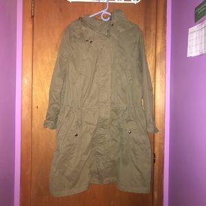 XL green banana republic long coat